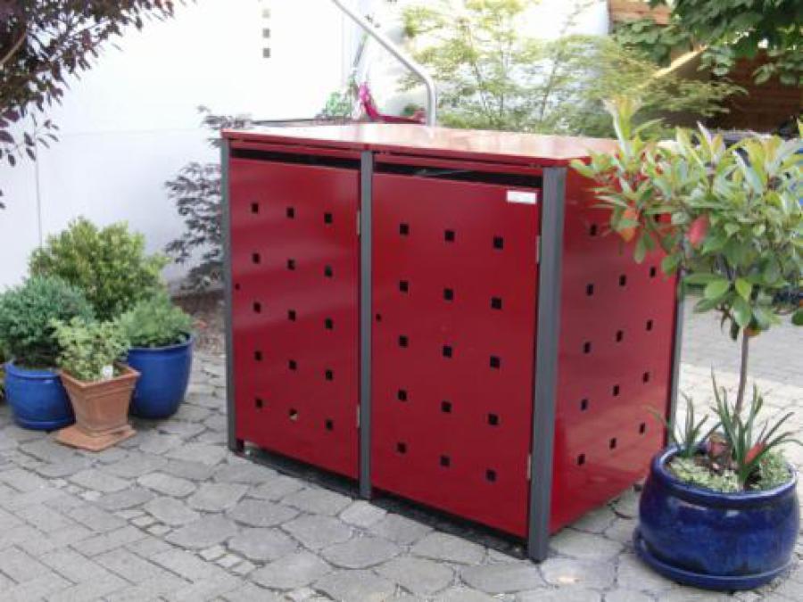Mülltonnenbox, Müllbox, Mülltonnenhaus, Umhausung, Unterstand,