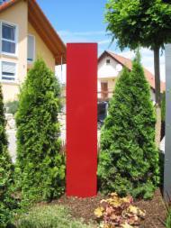 Zur Besseren Orientierung Für Ihre Freunde Und Den Postboten Können Wir Stele Auch Mit Einer Oder Mehreren Unserer Edelstahl Hausnummern Austatten